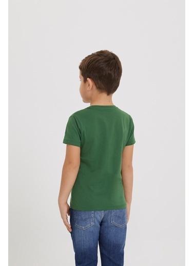 Lee Cooper Erkek Çocuk Yeşil T-Shirt Yeşil